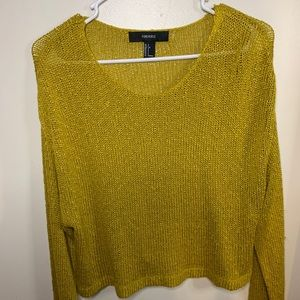 Gold knitted top